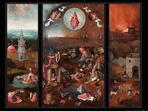 1art1 Hieronymus Bosch - Das Jüngste Gericht, Triptichon, Circa 1482 Poster Kunstdruck 80 x 60 cm