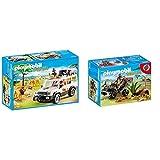 Playmobil Vida Salvaje Vehículo Safari con Leones, Playset de Figuras de Juguete, Multicolor (6798), Miscelanea + Explorador con Quad Playset de Figuras de Juguete