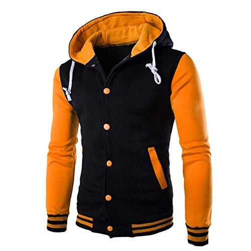 FRAUIT Herren Winterjacke Männer Mantel Jacke Outwear Pullover Winter Schlank Hoodie Mode Wunderschön Super Qualität Herbst Winter Warm Bequem Kleidung Top Outwear Coat100% Baumwolle