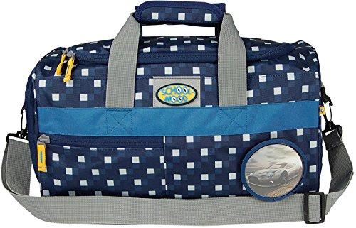 SCHOOL-MOOD Sporttasche, Auto 96706 karo blue