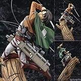 Anime Attack on Titan Figura de acción Levi Ackerman Pop Figura de Personaje Estatua de PVC Figura de acción Modelo de Personaje Figura de acción Adornos de Ackerman 28cm