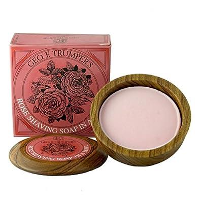 Geo F Trumper Wooden Shaving Bowl with Rose Shaving Soap Refill