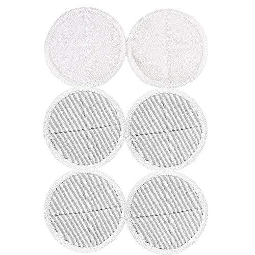 Cobeky 6 almohadillas de repuesto para mopa de piso duro Spinwave 2124 2039A (2 almohadillas de contacto suaves + 4 almohadillas de fregona)