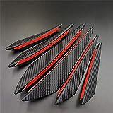 6 Unids/set Parachoques Delantero Divisor de Labios Aleta Cuchillo de Aire Kit de Carrocería de Auto Fibra de Carbono Negro Spoiler de Coche Accesorios de Decoración de Estilo
