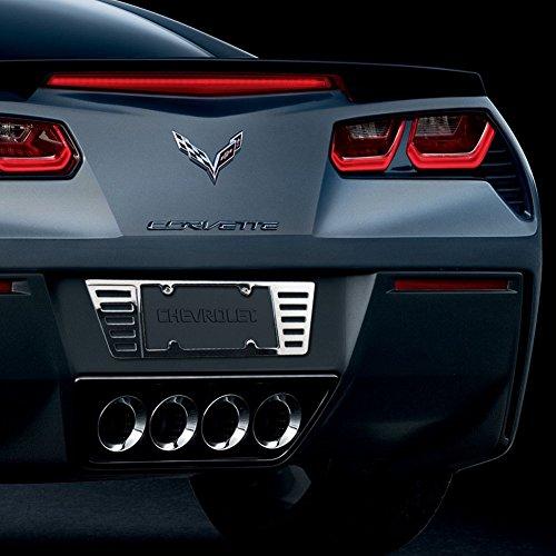 Hi-Tech Custom C7 Grand Sport Corvette Chrome Rear License Frame - CNC Machined Billet Premium