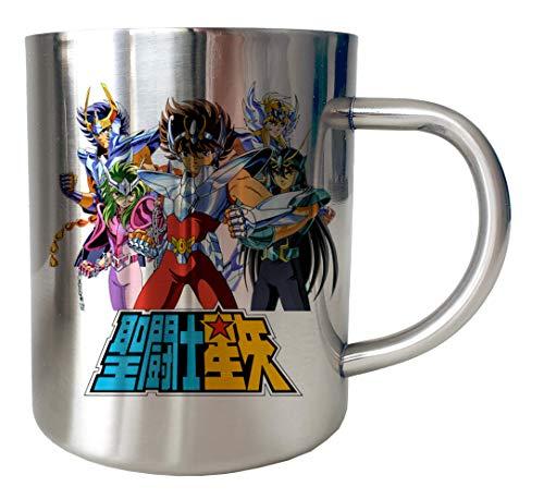 Mug Inox chrome Metal Saint Seiya - Logo Team