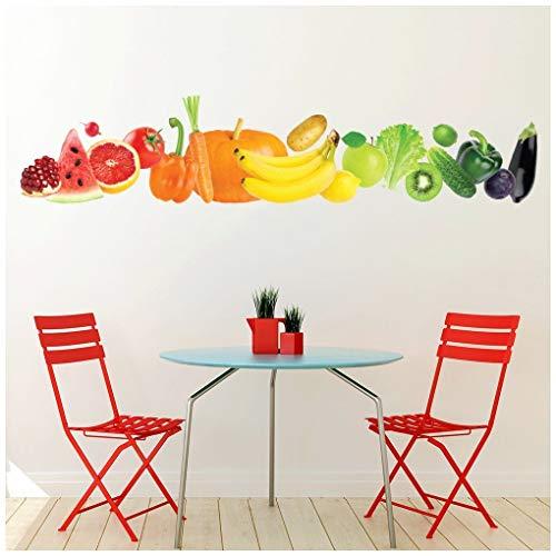 azutura Frisch Obst & Gemüse Banner Wandtattoo in 8 Größen erhältlich Digital