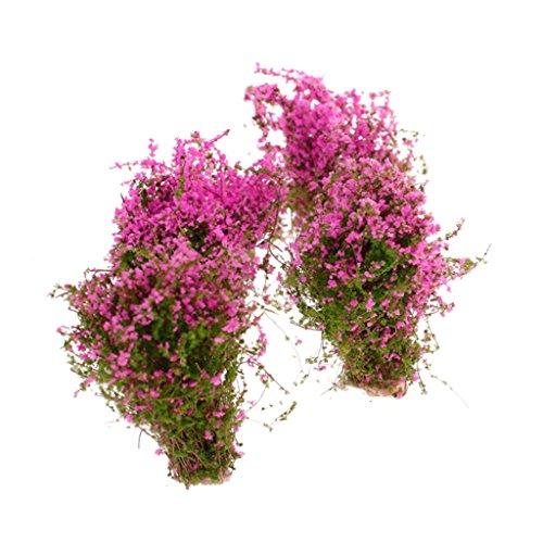 Unbekannt 4pcs Künstliche Blumen Bodendecker Polsterstauden Blumenstrauß Landschaft