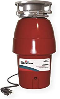 Garrison 3580495 Disposer, Food Waste Disposal, 1/2 HP, 120 Volts, 2600 RPM, 4.5Amps, Permanently Lubricated Bearings, Removable Splash Guard, Power Cord Included, Red
