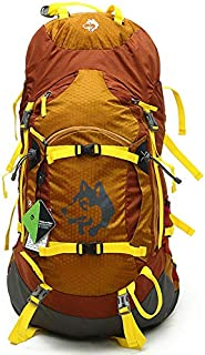 55L Travel Mountaineering Bag Outdoor Camping Backpack Unisex Hiking Backpack Waterproof Sports Backpack,Gold