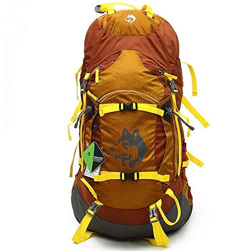 ASDFGHJKL 55L Voyage Sac à Dos Alpinisme Camping en Plein air Unisexe randonnée Sac à Dos Sac à Dos de Sport étanche,d'or