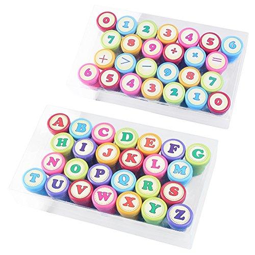 Zelf Inkt Stampers, 52 stks Set Alfabet Letters Stamper, Kinderspeelgoed Seal Set Onderwijs Stempel voor Preschool, Prijzen, Gift