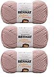 Bernat Softee Chunky Yarn Bundle Super Bulky Number 6 Gauge Yarn, 3 Skeins (Gray Rose)