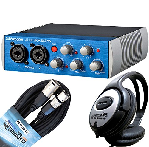 PreSonus AudioBox USB 96 Audio Interface + keepdrum Mikrofonkabel + Kopfhörer
