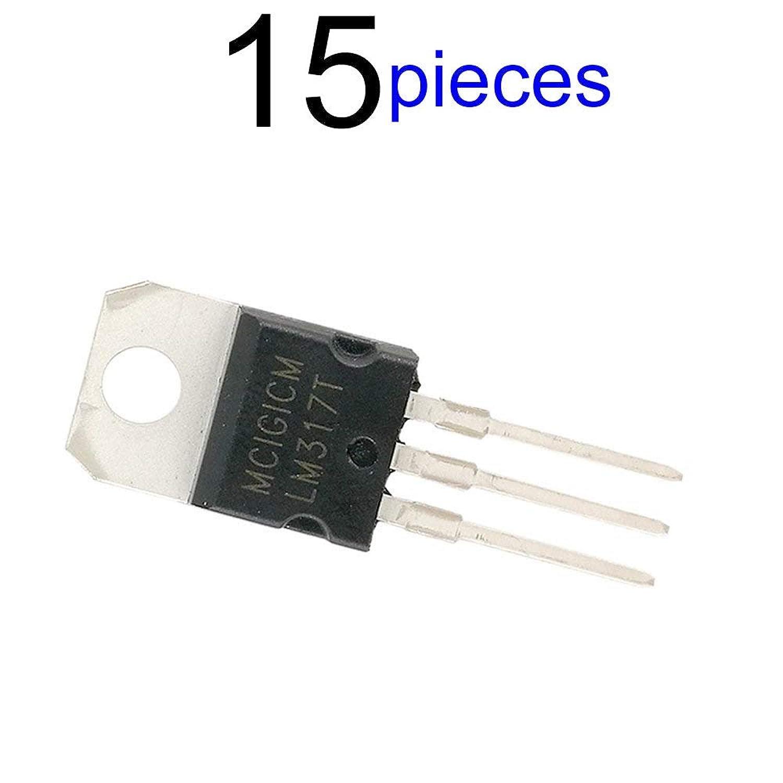 MCIGICM トランジスタ lm317t 電圧レギュレータ 1.2V~37V スルーホール 15個入り 調節可能 3端子レギュレーター 汎用 半導体デバイス