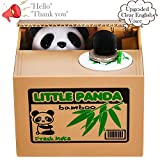 LUFENG Panda Money Box, Piggy Bank for Kids/Adults, Automatic Stealing Coin Money Bank with Upgraded Clear...