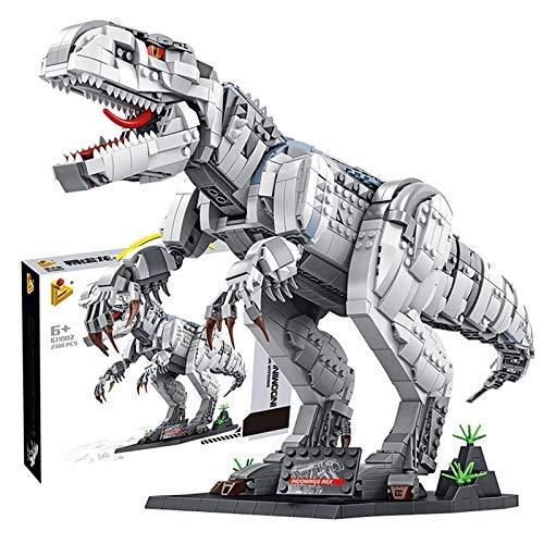 Juego de Edificios de Dinosaurios PEXL, Tyrannosaurus Rex Modelo Coleccionable Exclusivo, 1813 Piezas Kit de construcción de Dinosaurios Grande Compatible con Dinosaurio Lego