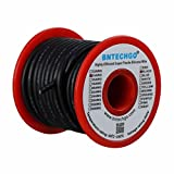 BNTECHGO 14 Gauge Silicone Wire Spool 25 ft Black Flexible 14 AWG Stranded Tinned Copper Wire