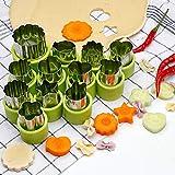 FOCCTS 12 Stück Gemüseschneider Formen Set, Mini Torte, Obst und Keks Schimmel, Ausstecher Dekoratives Essen, für Kinder Backen und Nahrungsergänzungsmittel Werkzeuge Zubehör Handwerk...