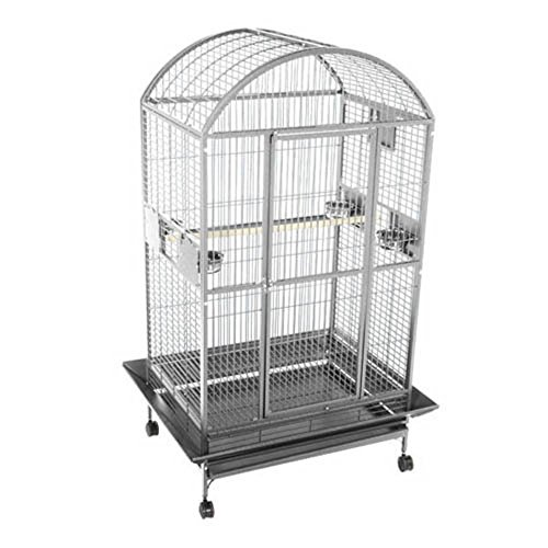 A&E Cage 9003628 Black Dome Top Bird Cage, X-Large