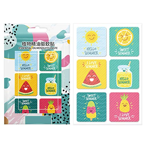 Jiaojie 72pcs/box Mosquito Repellent Stickers Patches Cartoon Pure Plant Essential Oil Stickers for Baby Kid