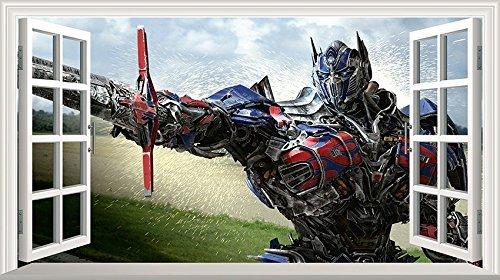 Chicbanners Wandaufkleber/Wandsticker Transformers Optimus Prime Magic, selbstklebend, 1000 mm breit x 600 mm tief