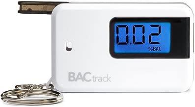 BACtrack Go Keychain Breathalyzer, Portable Keyring Breath Alcohol Tester, White
