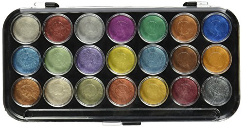 Yasutomo Paints NPWC21 Pearlescent Watercolor Set, 21-Colors, Multicolor