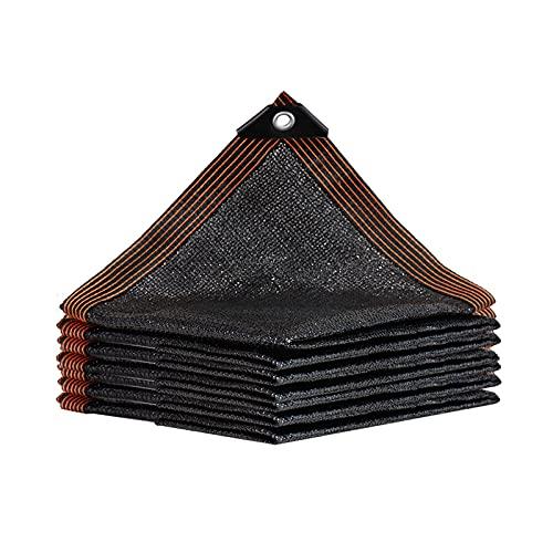 Malla Sombreo Toldos Exterior Terraza 2m×2m Negro Resistente a Los Rayos UV Proteccion Solar Luz Fácil De Colgar para Jardín, Patio, Exteriores, Pergola Decking