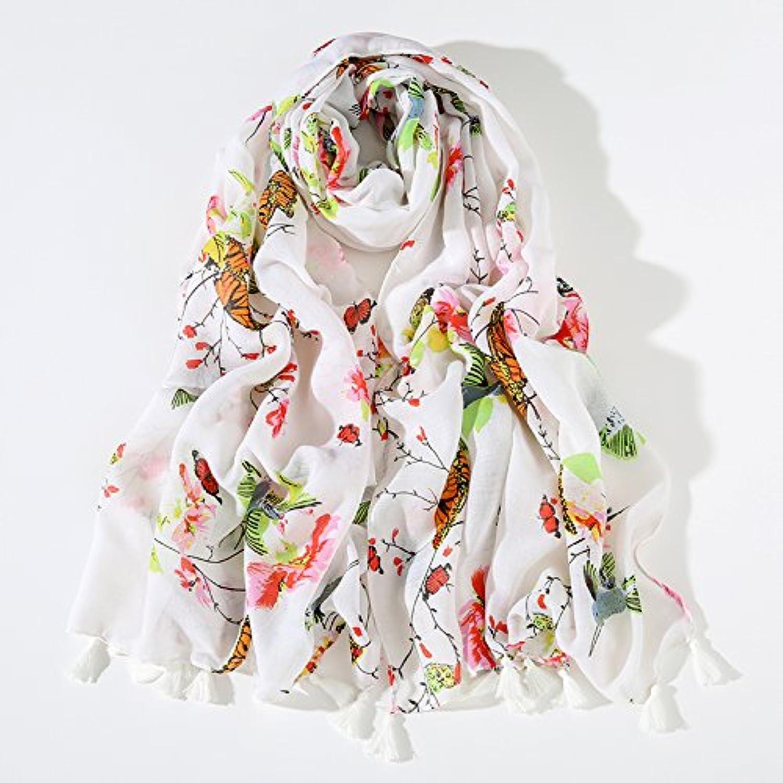 FLYRCX Long Lightweight Ladies' Sunscreen Shawl Soft and Comfortable Printed Scarf 180cmx90cm