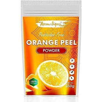 Aromatique Orange Peel Powder 250 Grams I Pure & Natural Sun Tan Remover & Exfoliator