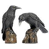 Design Toscano Raben der mystischen Nacht Statuen, Maße: 11,5 x 5 x 15 cm