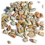 JINYIWJ Cristal áspero 30 g Natural Azul áspero Chips de Aguamarina Crudo triturado Piedra curación espécimen joyería de Cristal Mineral decoración del hogar (Color : Rough Aquamarine, Size : 50g)