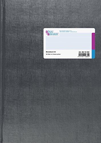 König & Ebhardt 8610332 Geschäftsbuch / Monatsbuch (A4, Deckenband)