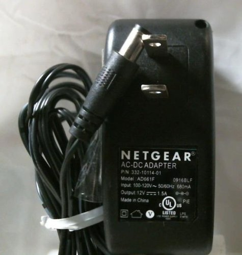 Genuine Netgear Power Supply AC Adapter 12V 1.5A Model: AD661F & 332-10114-01