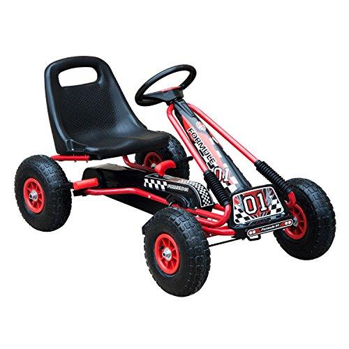 HOMCOM Kids Children Pedal Go Kart Cart Air Inflatable Tyres Motor Racing...