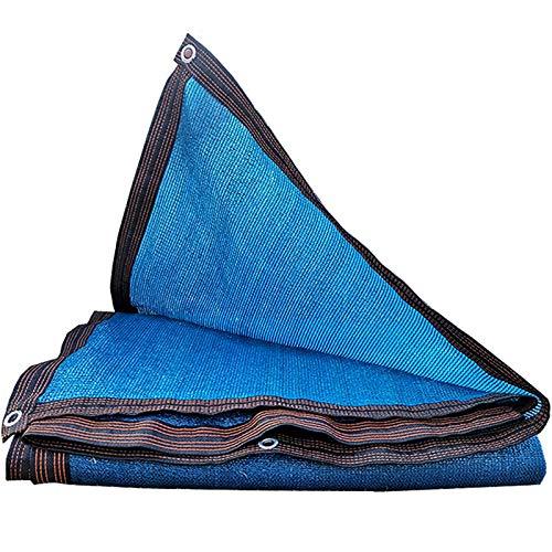 Ljings Parasol con Borde con Cinta Adhesiva Y Ojales, Resistente A Los Rayos UV, Red De Protección Solar, con Kit De Herrajes De Acero Inoxidable para Patio, Jardín,13×13ft
