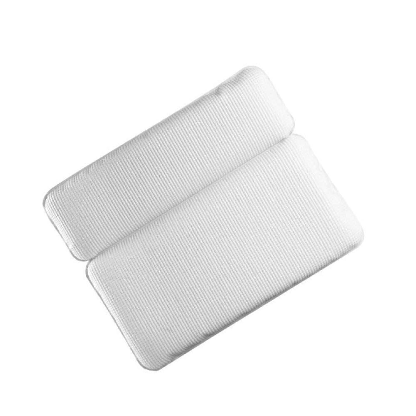 オーバーヘッド説得投資するLMCLJJ 頭、首、肩、背中をサポートする高級スパ用バスピロー滑り止め、極厚、ソフト滑り止めサクションカップ付き、究極のリラクゼーション体験のためにあらゆる浴槽にフィット (Color : White)