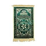 nakw88 Alfombra de oración musulmana, alfombra de oración islámica, cachemira artificial antideslizante para adultos