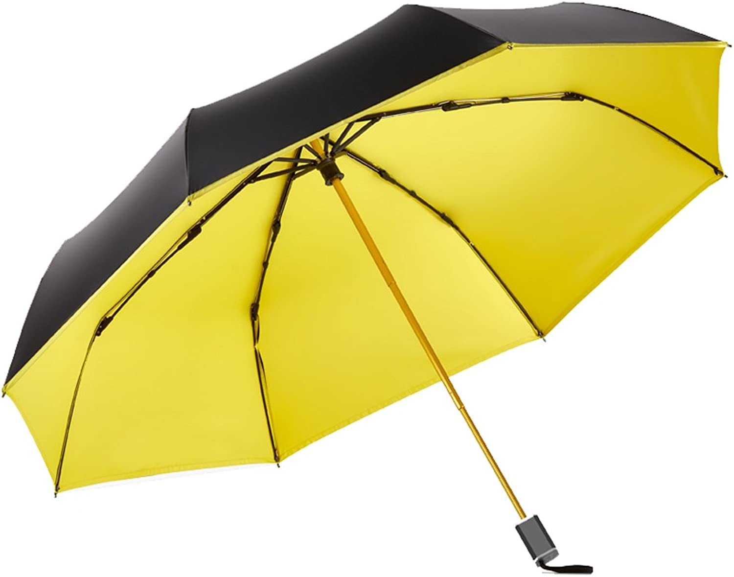 Compact Travel Umbrella, Portable Foldable Lightweight Design and High Wind Resistance, UV Predection Waterproof Quick Drying