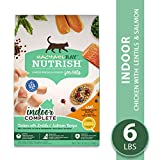 Rachael Ray Nutrish Premium Natural Dry Cat Food, Indoor Complete Chicken with Lentils & Salmon Recipe, 6 Lbs