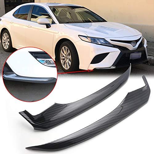 Xotic Tech Bumper Lip Carbon Fiber Compatible with Toyota Camry SE XSE 2018 2019 2020, ABS Front Bumper Spoiler Splitter, Spoiler Diffuser Deflector, Chin Spoiler Protector