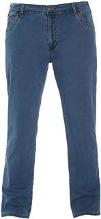 Jeans Maxfort pantalone uomo taglie forti grandi oversize blu denim 12427