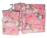Snuggle Babydecke, sehr schön, weich, Einhorn, Rosa, 75 x 100 cm