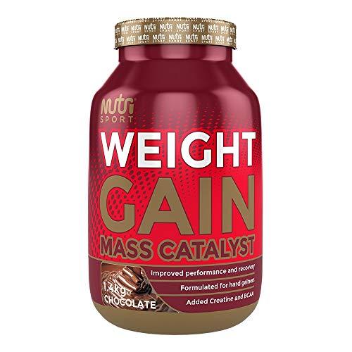 Nutrisport Mass Weight Gainer Protein Shake Powder Supplement (Chocolate, 1.4kg)