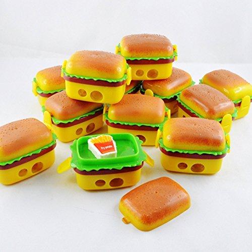 Grab Offers New Latest Design Kids Burger Sharpener with French Fries Eraser for School Going Kids Or Birthday Return Gift (6 Pcs)