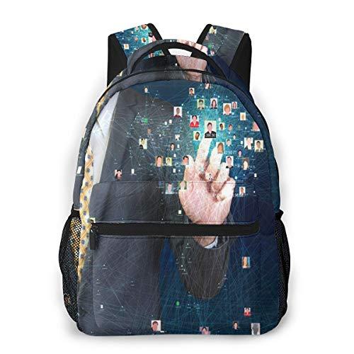 Rucksack Männer Und Damen, Laptop Rucksäcke für 14 Zoll Notebook, Datenbank kontaktieren Kinderrucksack Schulrucksack Daypack für Herren Frauen