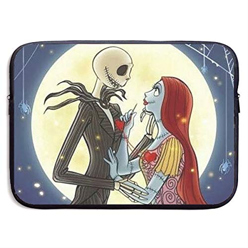 CHLING Jack and Sally in Love Nightmare Before Christmas Laptop Sleeve 13-15 Inch Waterproof Bag Case Briefcase