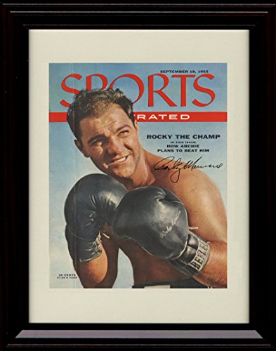 Framed Rocky Marciano Sports Illustrated Autograph Replica Print