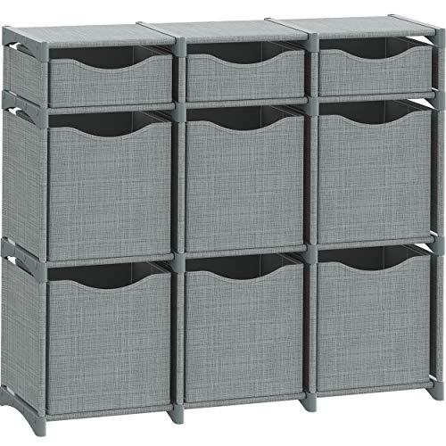 9 Cube Organizer  Set of Storage Cubes Included  DIY Closet Organizer Bins  Cube Organizers and Storage Shelves Unit  Closet Organizer for Bedroom Playroom Livingroom Office Dorm Grey
